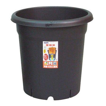 果樹 2020新作 花木の栽培に適し土容量タップリで安定感のある深型鉢 プラ鉢 果樹鉢 365型 日本未発売 丸鉢 4905980310469 36.5×36.5cm ブラック アップルウェアー