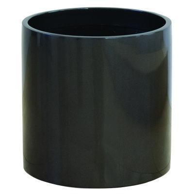 大型鉢カバー リングポット R型 メタリックグレー R-43型 43×H41cm【大和プラ販 ヤマトプラスチック グラスファイバー FRP 植木鉢 4903266719425】
