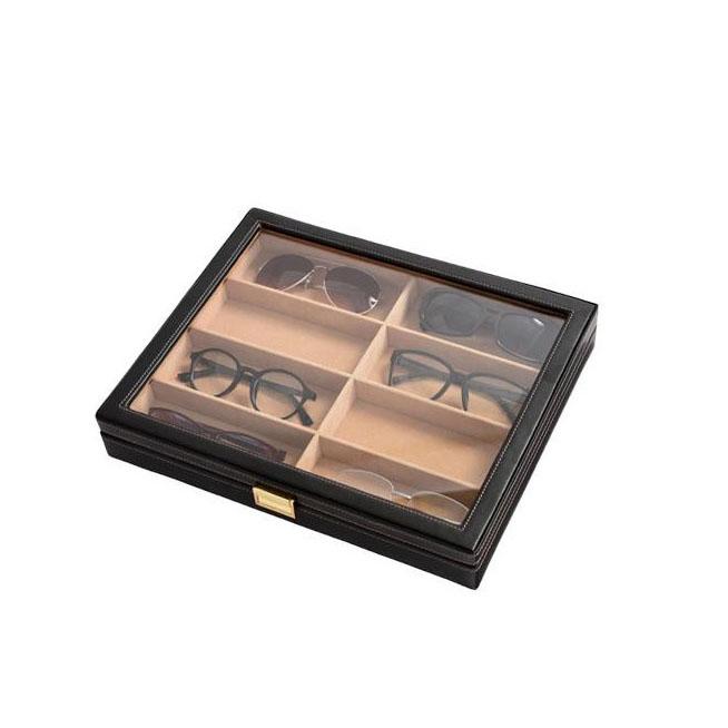 【送料無料】アクセサリーボックス メガネ収納ケース!茶谷産業 Elementum(エレメンタム) レザーメガネケース(コレクションケース) 8本用 240-452