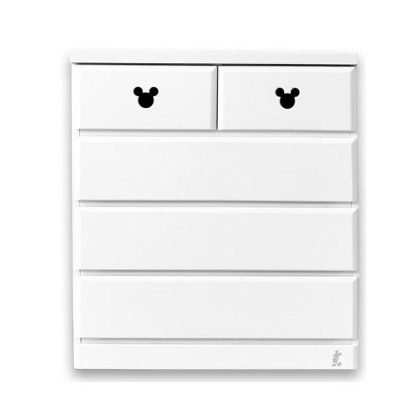【送料無料】ミッキー タンス 収納家具!ディズニー 収納チェスト エスター 幅80・4段 ホワイト
