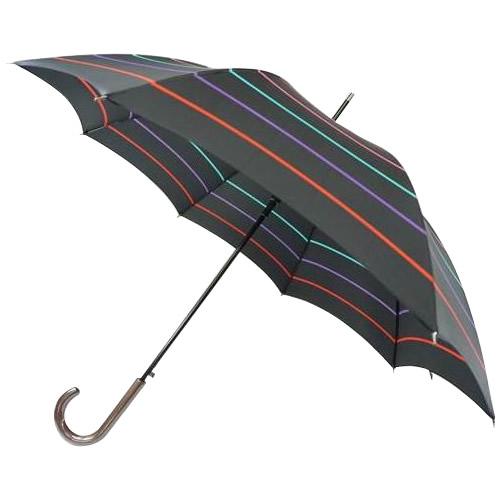 【送料無料】雨傘 60cm 8本骨!日本の職人手作り 線シマジャンプ傘 ブラック