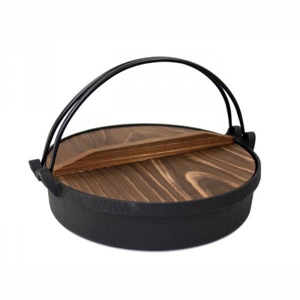 【送料無料】鋳鉄製 すき焼き鍋 IH対応!池永鉄工 南部鉄 すき鍋 いろどり 26cm