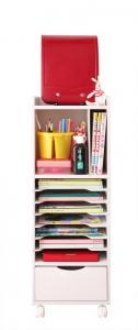 【送料無料】子供用家具 子供部屋用 収納ラック!自分で準備できる ちょっと幅広のランドセルラック Aタイプ