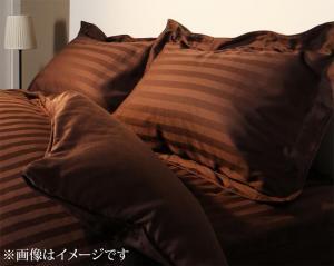 高級感のあるストライプサテン素材 枕カバー! 9色から選べるホテルスタイル ストライプ柄サテン素材 ピローケース(枕カバー)単品 50×70用