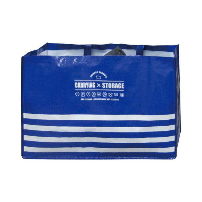 クリーニングやコインランドリーの通い袋 レジャー用ストックケースとして使える大容量バッグ (人気激安) 待望 ラミネートランドリーバッグ単品