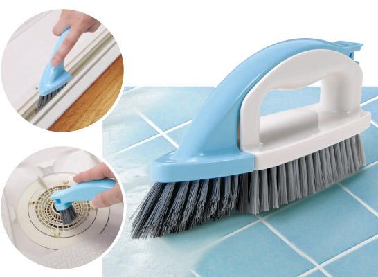 バス清掃用 OUTLET SALE 大小2つのブラシが合体 浴室のさまざまな汚れに対応 4WAY オーエ 全商品オープニング価格 親子ブラシ