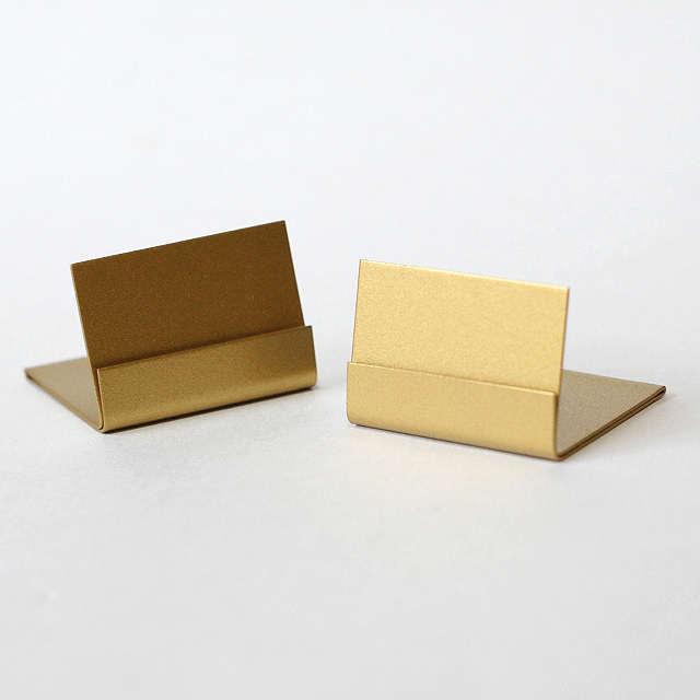 ショップディスプレイ お気に入りの空間をオシャレに演出 シャマール カードスタンド Lサイズ ブラス アンティーク風 真鍮 コンパクト対応 特価 カード立て カード お歳暮
