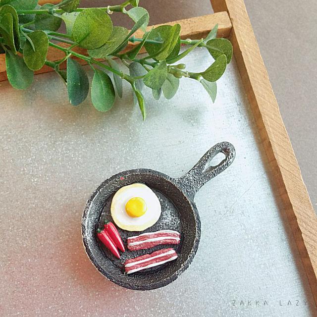 「キッチンマグネット(ベーコンエッグ)」磁石 ユニーク雑貨 文具【コンパクト対応】