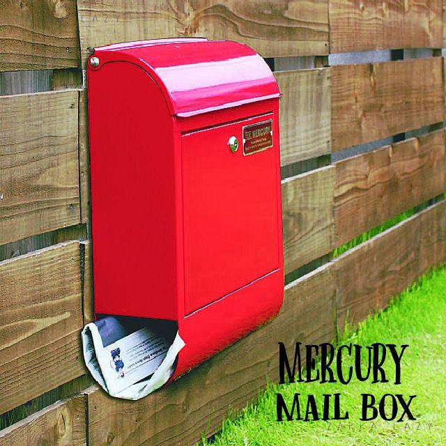 「マーキュリー メールボックス RED」郵便受け ポスト メーキュリー 赤 レッド MAIL BOX