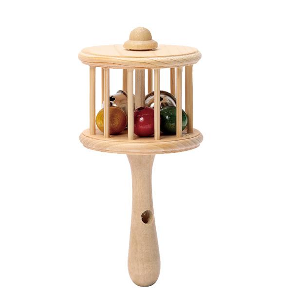 笛付きガラガラ 24個セット 赤ちゃん あやす 鈴 スズ 木製 ぬくもり 民芸玩具 プレゼント おみやげ 鳴る 送料無料 送料込み おもしろ雑貨 ザッカ ビンゴ景品 バザー