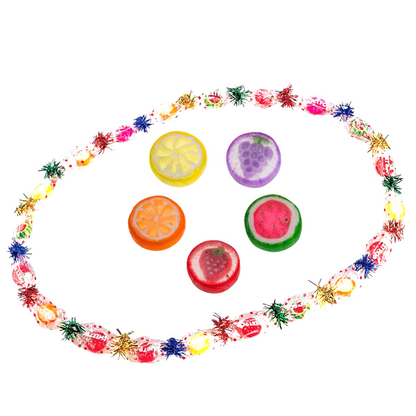 【単価380円(税別)×50個セット】フルーツミックスレイ 飴 あめ アメ キャンディ お菓子 ビンゴ景品 業務用 バザー