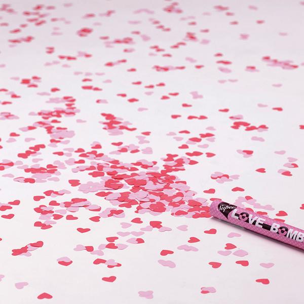 スーパーラブボム3個セット クラッカー バレンタイン ハート 紙吹雪 パーティー イベント サプライズ クリアランスsale!期間限定! バザー 結婚式 ビンゴ景品 流行のアイテム 贈り物 誕生日 お祝い ザッカ おもしろ雑貨