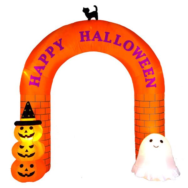 送料無料 エアーディスプレイ ハロウィンアーチ Halloween おばけ かぼちゃ カボチャ ゴースト パンプキン モンスター ホラー ナイト かわいい カワイイ 可愛い ひかる 光る 装飾 飾り オブジェ 販促 パーティー イベント バザー ビンゴ 子ども会 プレゼント 景品 雑貨