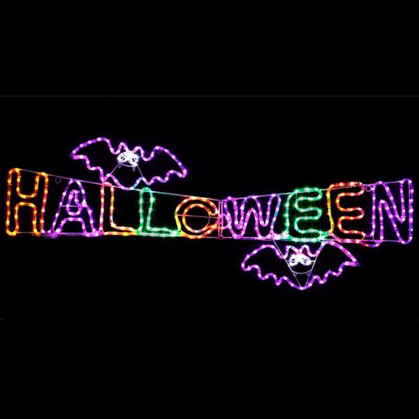 送料無料 LEDチューブライト HWタイトル ハロウィン Halloween おばけ かぼちゃ カボチャ ゴースト パンプキン モンスター ホラー ナイト 電飾 装飾 飾り ディスプレイ イルミネーション 販促 パーティー イベント バザー ビンゴ 子ども会 プレゼント 景品 雑貨
