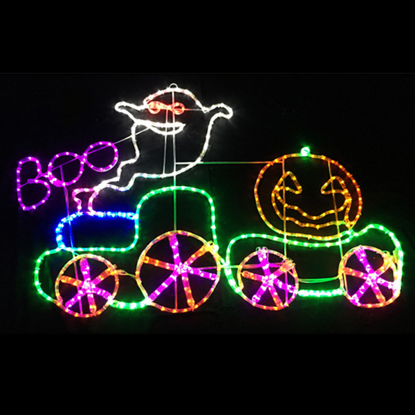 LEDチューブライト ゴーストトレイン ハロウィン Halloween おばけ かぼちゃ カボチャ ゴースト パンプキン モンスター ホラー ナイト 電飾 装飾 飾り ディスプレイ イルミネーション 販促 パーティー イベント バザー ビンゴ 子ども会 プレゼント 景品 雑貨