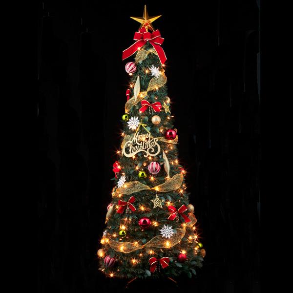 120cmフォールディングレッドツリー ツリー X'mas クリスマス クリスマスツリー 北欧 ディスプレイ 飾り 装飾 電飾 イベント パーティー 冬 子ども会 子供会 おもしろ雑貨 ザッカ ビンゴ景品 バザー 送料無料(一部地域除く)