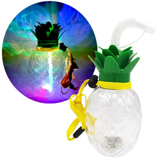 電球型 容器 電球ジュース LED 光るパイナップルボトルストラップ付 420ml 120個セット 幼稚園 バザー 電球型 ボトル 電球ジュース 電球ドリンク 縁日 屋台 イベント 街歩き インスタ映え かわいい キュート 流行 ピカピカ 目立つ 写真映え SNS 送料無料 ビンゴ景品