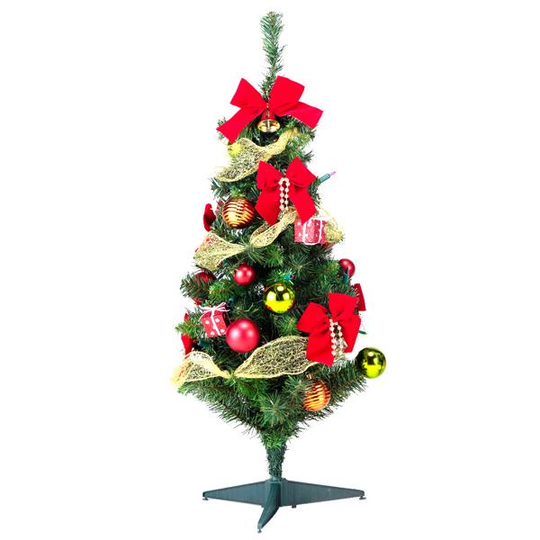 90cmデコレーションツリー(レッド)クリスマスツリー 北欧 クリスマス X'mas ツリー イベント パーティー ディスプレイ 飾り 装飾 冬 子ども会 子供会 おもしろ雑貨 ザッカ ビンゴ景品 バザー