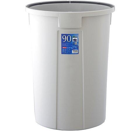 【メーカー直送】 ベルクペール90N(90L) 本体 ライトグレー 5個入(ケース販売) 【送料無料】一部地域除く