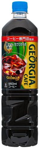 格魯吉亞咖啡甜柔和 950 mlPET 咖啡細塘經濟規模 900 瓶