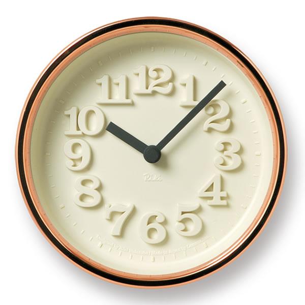 掛け時計 【Lemnos レムノス】小さな時計 WR11-05 置き時計 Riki 掛置き 壁掛け 壁掛け時計 時計 おしゃれ 渡辺力 人気 デザイン インテリア 雑貨 北欧 クロック