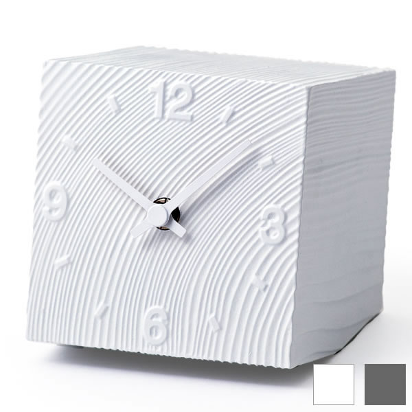 置き時計 【Lemnos レムノス】cube キューブ AZ10-17 置度計 アルミ 時計 おしゃれ 人気 デザイン インテリア 北欧 クロック