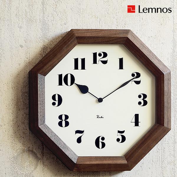 掛け時計 【 Lemnos レムノス 】 八角の時計 WR11-01 Riki 壁掛け 壁掛け時計 掛時計 時計 おしゃれ 渡辺力 人気 デザイン インテリア 雑貨 北欧 クロック