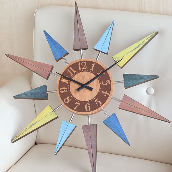 掛け時計【INTERFORM インターフォルム】 L'EST bunt レスト ヴント CL-8408 掛時計 木目 壁掛け 壁掛け時計 時計 おしゃれ レトロ クロック | ウォール 引っ越し祝い 新築祝い 贈り物 かわいい リビング ウォールクロック かけ時計 とけい 引越し祝い 雑貨 北欧