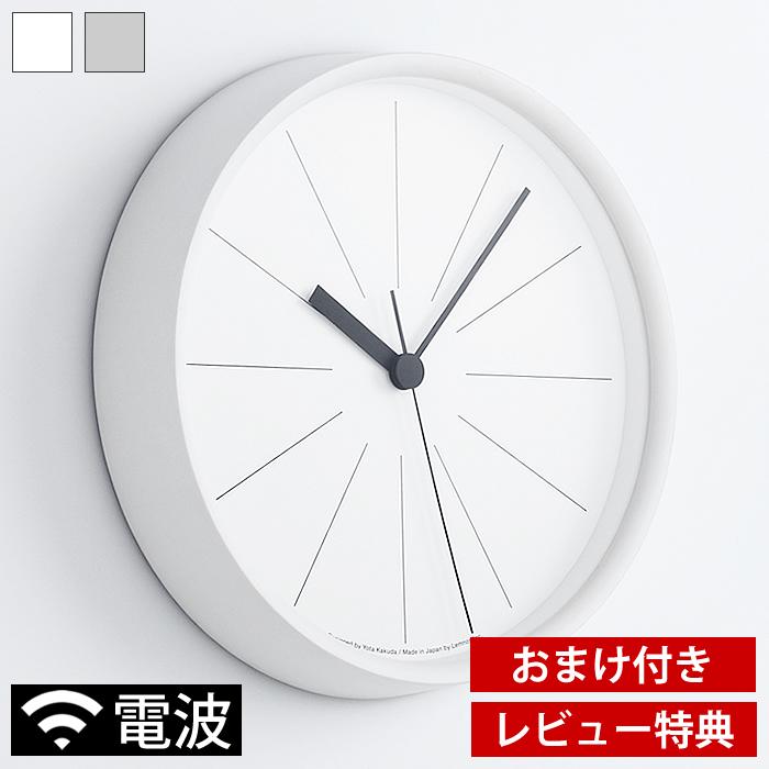 時を伝える機能は最大限に残しながら 12本の長い 線 のみで時間を表現 人気上昇中 空間に優雅に佇むその姿が美しい ミニマルな電波時計 タカタレムノス lemnos ラインの時計 電波時計 Lines Clock YK18-09 時計 グレー 角田陽太 おしゃれ 北欧 掛け時計 上品 SKPムーブメント スイープセコンド シンプル 壁掛け レビュー特典付 ホワイト