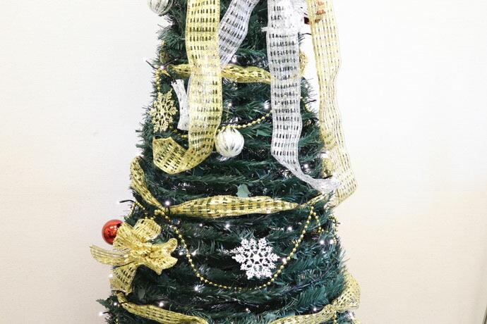 ■最終処分価格■WG-3658フォールディングエレガントツリー180cm【クリスマス/LED/フォールディングツリー/大きめ/屋内/すっきり/綺麗】