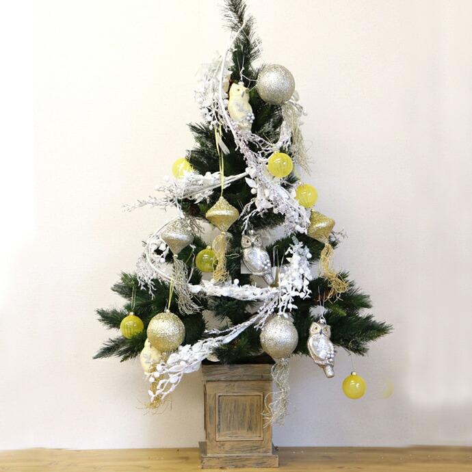【アウトレット】【1組】薄型Xmasツリーオーナメント付 クリスマス ツリー オリエンタル おしゃれ インテリア 置き物 ツリー きれい