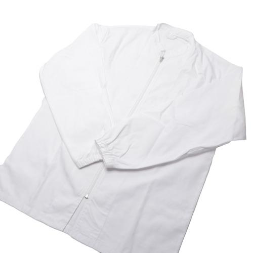 送料無料 衛生コート 男女兼用 ファスナータイプ 気質アップ 白衣 毎週更新 コート式 ホワイト 白 工場 ジャケット ジャンパー ファスナー 現場作業 作業着 長袖 医院