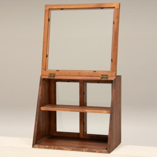 ガラスケース 飾り棚 木製 ガラス扉 ディスプレイ おしゃれ キッチン 雑貨 家具 インテリア