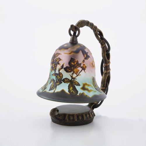 綺麗なガラス工芸品 サンドブラスト ArtMirage 吊り型ランプ テーブルランプ 卓上ライト 小鳥 さえずり
