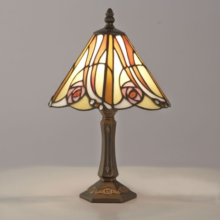 ステンドグラス ライト ランプ マッキントッシュローズ テーブルランプ 卓上ランプ ティファニー 照明器具 スタンドライト お洒落 ディスプレイ オブジェ 御祝 プレゼント