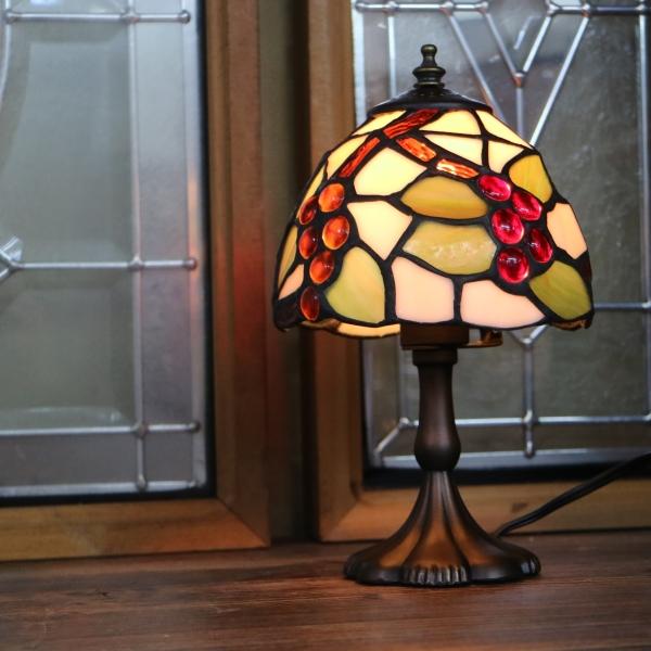ステンドグラス ランプ グレープ ティファニー おしゃれ ステンドランプ 卓上照明 テーブルランプ