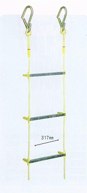 アルミ縄はしご 30m(小カギ付き)