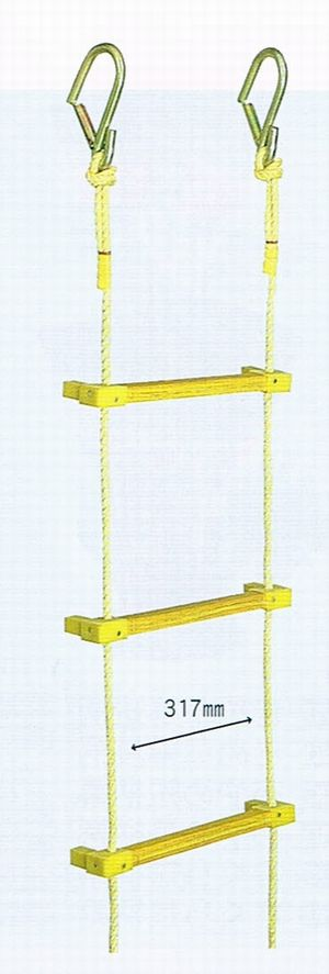 ヤツヤ式縄はしご 10m(小カギ付)