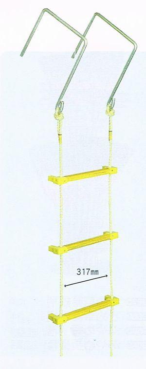ヤツヤ式縄はしご 15m(大カギ付)