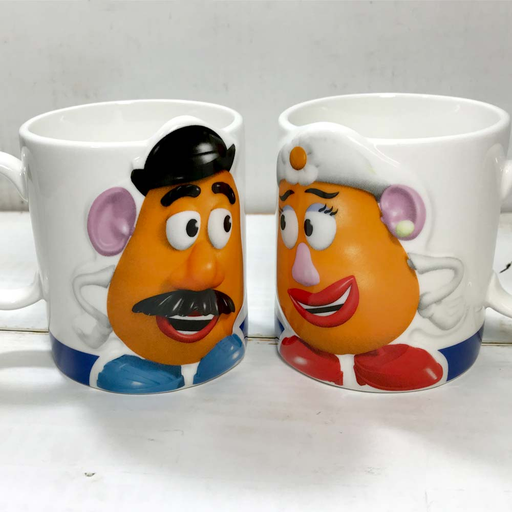Disney Pair Mug Cup set of 2 Toy Story Potato Head Tableware JAPAN