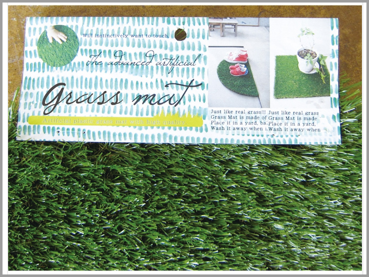 Artificial grass door mat mat grass mat room in outdoor fashion green GRASS MAT ROUND S