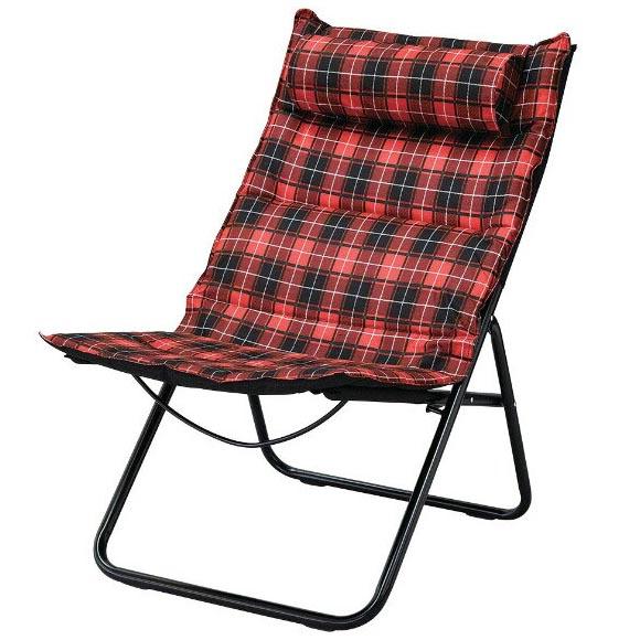 【送料無料】Manhattan Folding Chair Tartan Checked RED 椅子 パーソナルチェアー アウトドアチェアー 折りたたみチェアー カウンターチェア