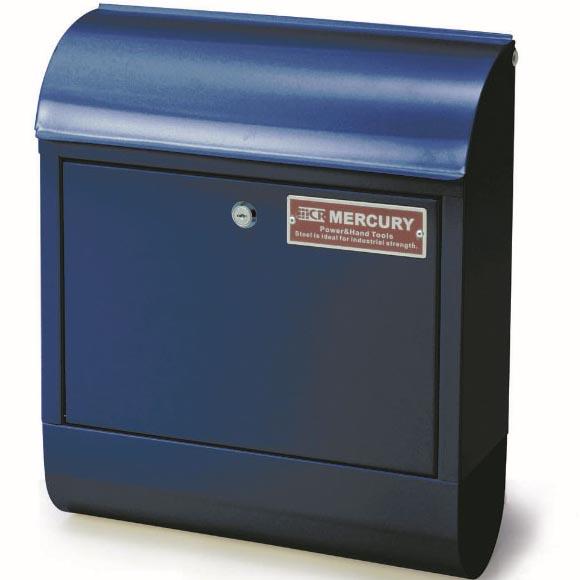 マーキュリー メールボックス ネイビー 郵便ポスト 郵便受け 鍵付き メールボックス シンプル