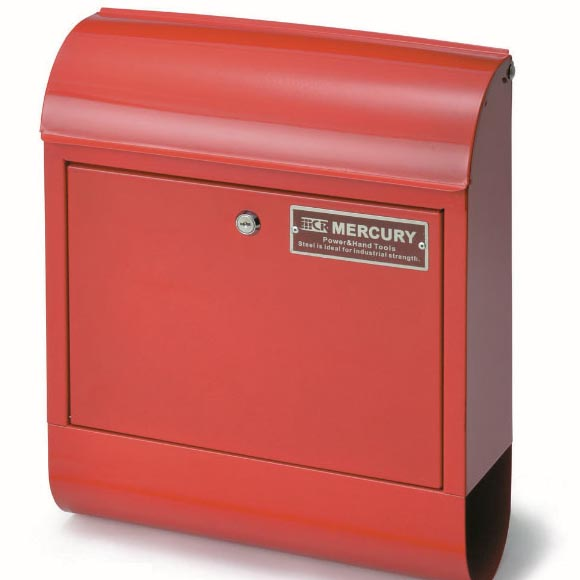 マーキュリー メールボックス レッド 郵便ポスト 郵便受け 鍵付き メールボックス シンプル