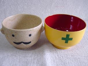 Various manpuku set pretty tableware set of teacups and bowls