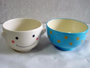 Bowl-rice bowl-Cup-Bowl-children-funny! gadgets-manpuku set-girl of my blue and pink