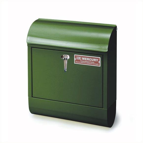 【送料無料】マーキュリー ハンドルロック メールボックス グリーン MERCURY 郵便ポスト 壁付け アメリカン スチール 郵便受け アンティーク メールボックス