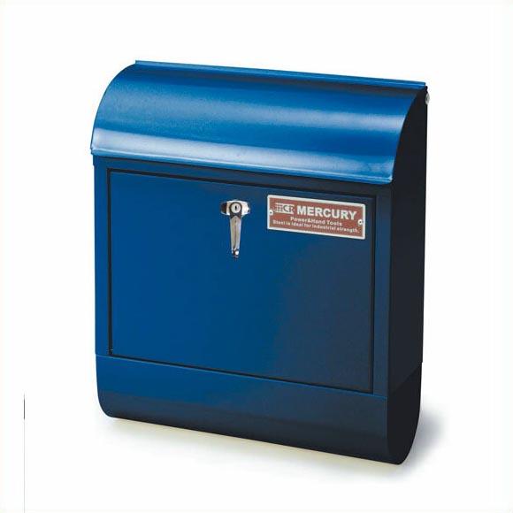 【送料無料】マーキュリー ハンドルロック メールボックス ネイビー MERCURY 郵便ポスト 壁付け アメリカン スチール 郵便受け アンティーク メールボックス