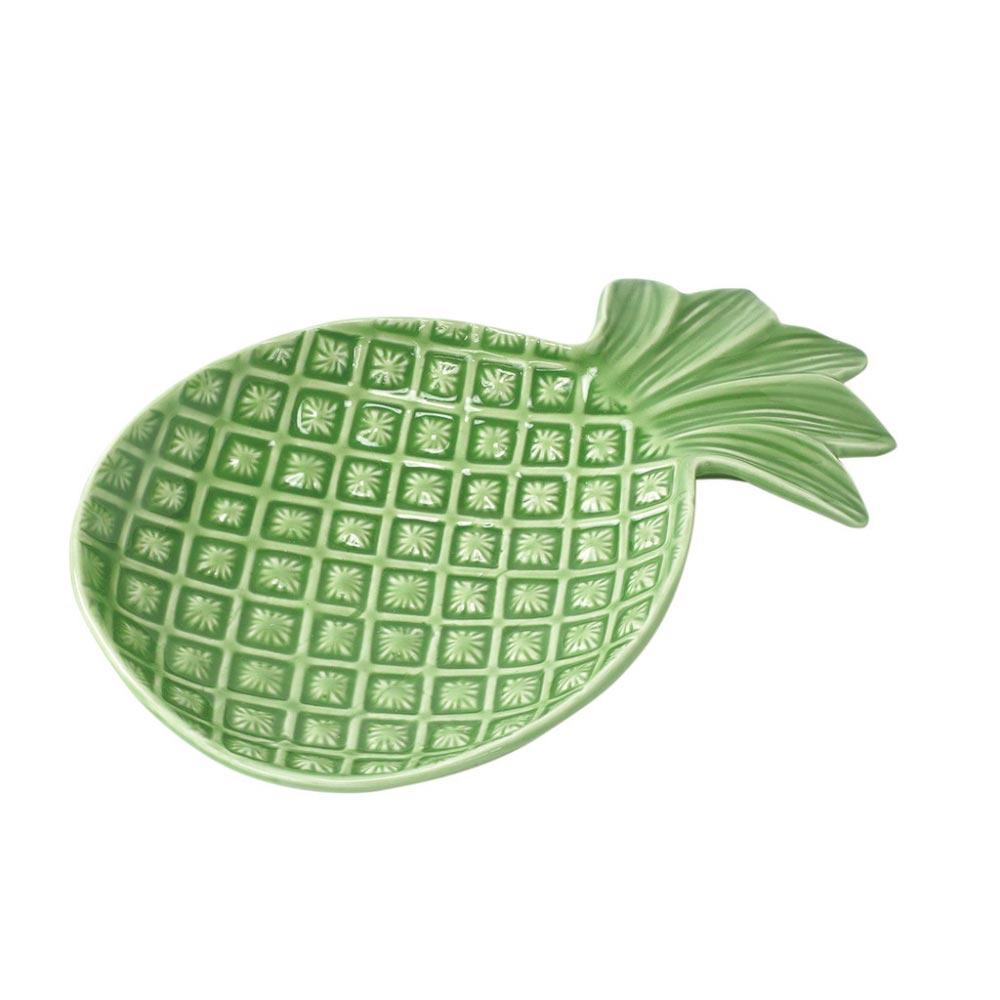 パイナップルの食器たち おもしろ雑貨 Symbol of Resort ラウンドプレート パイナップル 数量限定アウトレット最安価格 食器 オモシロ食器 プレート 皿 取リ皿 オシャレ 年間定番 陶器 小皿