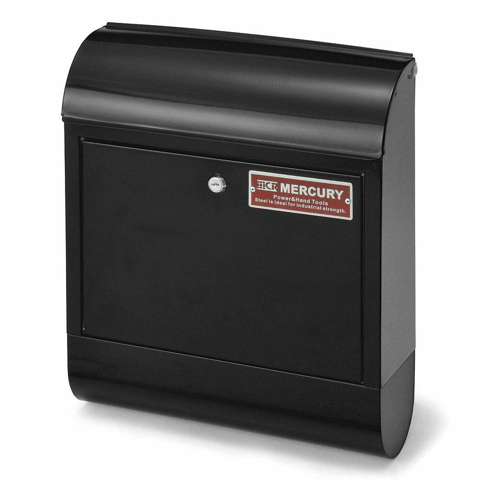 【送料無料】マーキュリー メールボックス マットブラック MERCURY 郵便ポスト 壁付け アメリカン スチール 郵便受け アンティーク メールボックス